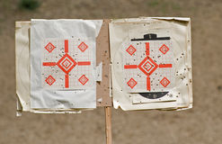 Rifle targets at the range Royalty Free Stock Photos