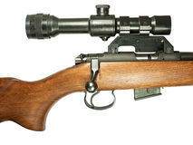 Rifle with telescopic sight Stock Images