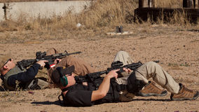 Rifle Training Stock Image