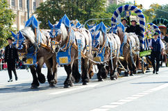 Riflemen's Parade at the Oktoberfest in Munich Royalty Free Stock Images