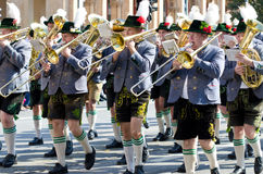 Riflemen's Parade at the Oktoberfest in Munich Stock Image