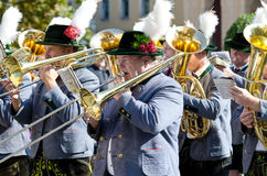 Riflemen's Parade at the Oktoberfest in Munich Royalty Free Stock Image
