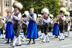 Riflemen's Parade at the Oktoberfest in Munich Stock Photo