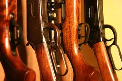 Rifles. Rifle rack Royalty Free Stock Images