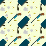 Rifles and bullets seamless background design Stock Image