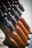 Rifles com espaços da lente da precisão fotos de stock