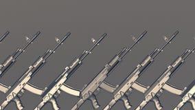 Rifles de AK Imagens de Stock