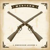 Rifles occidentales del vintage ilustración del vector