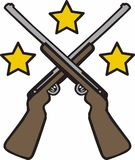 Rifles Stars Royalty Free Stock Images