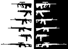 Rifles & Submachineguns Foto de Stock