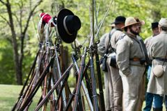 Rifles y bayonetas foto de archivo