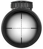 Riflescope med snabba banor Arkivfoto