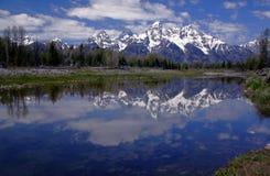 Riflessione 2 di Teton Fotografia Stock Libera da Diritti