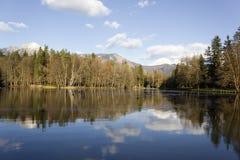 Riflessione alpina del lago Fotografie Stock