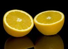 Riflessione arancio Fotografia Stock Libera da Diritti