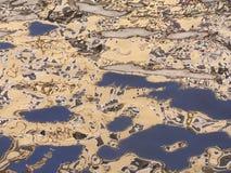 Riflessione astratta dell'acqua fotografia stock libera da diritti