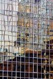 Riflessione astratta della costruzione Immagini Stock
