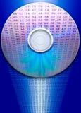 Riflessione CD di dati Immagini Stock