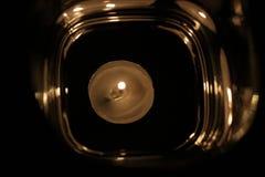 Riflessione chiara della candela Fotografie Stock