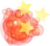 Riflessione cinese del cerchio Immagine Stock Libera da Diritti
