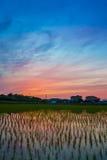 Riflessione crepuscolare del cielo Fotografie Stock