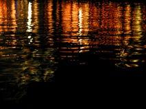 Riflessione degli indicatori luminosi su acqua - serie Immagine Stock Libera da Diritti