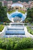 Riflessione del casinò di Monte Carlo nel Monaco Fotografia Stock