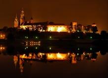 Riflessione del castello fotografia stock