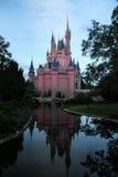 Riflessione del castello del Disney fotografia stock