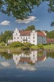 Riflessione del castello di Wanas Fotografia Stock