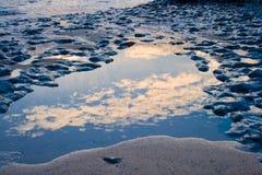 Riflessione del cielo Fotografia Stock