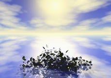 Riflessione del cielo Fotografie Stock