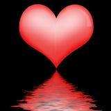Riflessione del cuore Immagini Stock