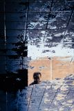 Riflessione del fronte di una persona asiatica nello stagno di acqua sulla terra fotografia stock libera da diritti