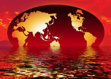 Riflessione del globo   immagine stock libera da diritti