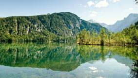 Riflessione del lago Almsee Immagini Stock Libere da Diritti