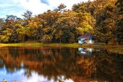 Riflessione del lago - autunno Fotografia Stock Libera da Diritti