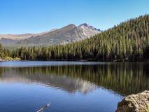 Riflessione del lago bear immagini stock