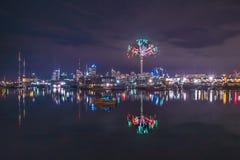 Riflessione del nuovo anno di Auckland Fotografia Stock