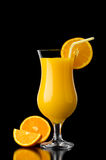 Riflessione del succo d'arancia Immagine Stock