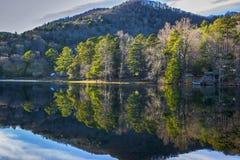 Riflessione del tipo di vetro del lago Fotografia Stock Libera da Diritti