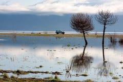Riflessione del trio nel lago Sevan Fotografia Stock Libera da Diritti