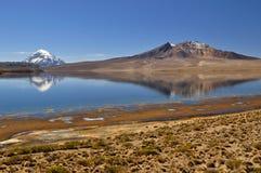 Riflessione del vulcano Fotografia Stock