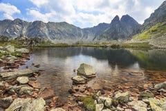 Riflessione dell'alta montagna in un lago Fotografia Stock Libera da Diritti