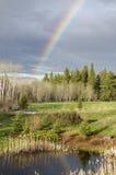 Riflessione dell'arcobaleno Fotografia Stock Libera da Diritti