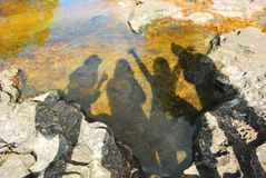 Riflessione dell'ombra Fotografia Stock