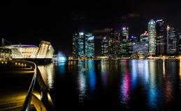 Riflessione della città di notte Fotografie Stock Libere da Diritti