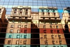 Riflessione della costruzione di NYC Fotografia Stock