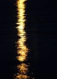 Riflessione della luce di luna Immagine Stock