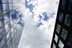 Riflessione della nuvola Fotografia Stock